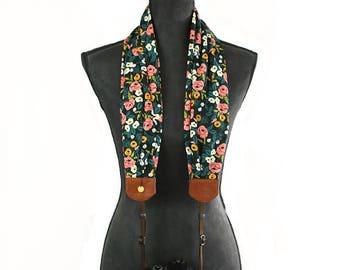 scarf camera strap beaming bouquet - BCSCS114