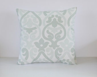 Artichoke Pillow Cover- Sea Foam Green Contemporary Decorative Couch Pillow 18x18- Ready to Ship