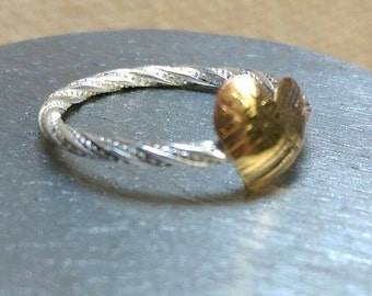 Bronze and Sterling Silver Stackable Ring