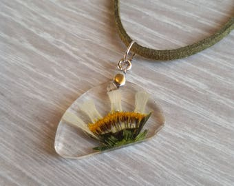 Flower pendant ECO epoxy resin necklace Dried Flower pendant Botanical pendant with pressed flowers Christmas gift