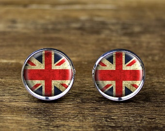 British flag cufflinks, Union Jack cufflinks, English flag cufflinks