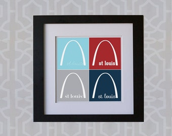 8x8 Print- St. Louis Arch Collage **DIGITAL DOWNLOAD**