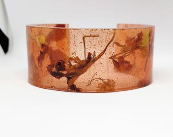 Monkeyflower maple seed cuff