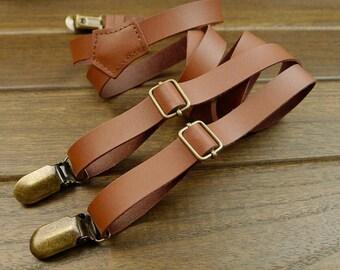 Wedding Suspender retro Leather Suspenders 2.0cm width Mens Suspenders Party Suspenders Casual Suspenders.Dress Suspenders Gentleman belt