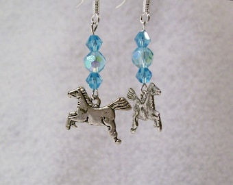 Horses Horses Horses Horse Charmed Earrings S.S. WITH CRYSTALS