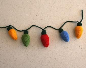 Christmas lights - INSTANT DOWNLOAD PDF Knitting Pattern
