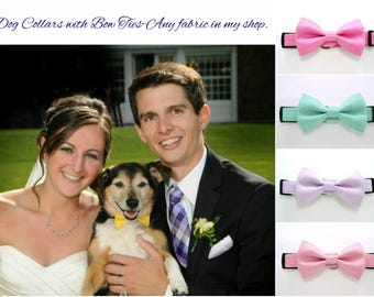 Dog Collars with Bow Ties-Any fabric in my shop.
