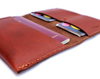 Leather passport creditcard holder wallet business card cases handmade mens men boyfriend fathersday bankcard small gift citytrip travel