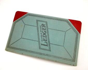 Vintage Ledger Book, Old General Ledger Bookkeeping Ledger, Single Entry Ledger, Financial Ledger, Vintage Office