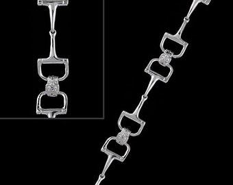 Dee Bit Bracelet, Bit Bracelet, 3 bit bracelet, equestrian bit bracelet, bit jewelry, dee bit jewelry, dee bit, horse jewelry, d bit