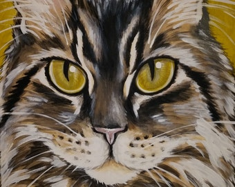CUSTOM Painted Pet Portrait 11x14