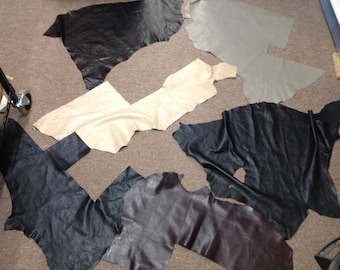OSM881.   Package of 6 Leather Lambskin Remnants
