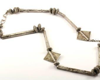 Vintage Modern Design Geometric Necklace 925 Sterling NC 627-E
