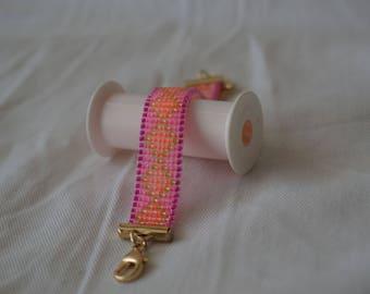 Pink Moroccan Tile armband