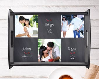 Top personalized with your photo and text personalized gift for couple photo