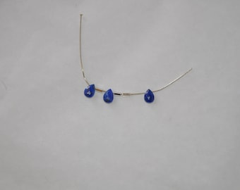 Stone LAPIS drop 6 mm for jewelry making