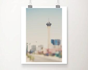 Las Vegas photograph stratosphere photograph the strip photograph architecture photography las vegas print travel photography
