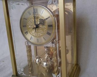 Vintage Hermle german brass clock