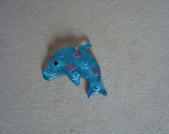 Cabochon Blue Dolphin decor