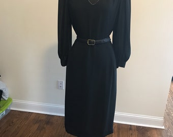 80s Black and Gold Dress (belt not included)