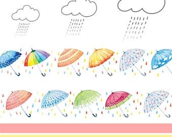 Umbrella Washi Tape, Cute Washi Tape