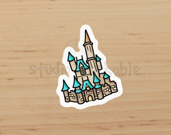 Disney World Castle Large Glossy Sticker / S112