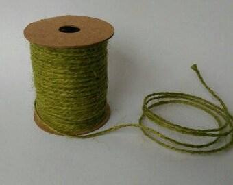 HEMP ROPE Jute String Decorative Craft Cord 10 Meters, Green