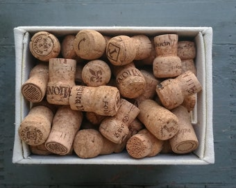 85 Champagne Corks for crafting projects, natural corks, used corks, crafting cork - DESTASH