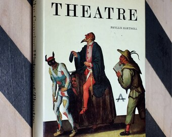 The Concise History of Theater by Phyllis Hartnoll (1970) hardcover book