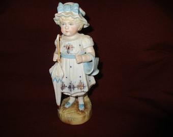 VICTORIAN Bisque Doll Figurine