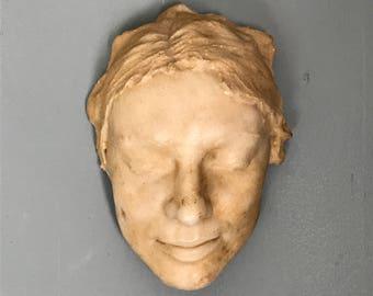 Beautiful Serene Life Mask,Resin Composite c.1940