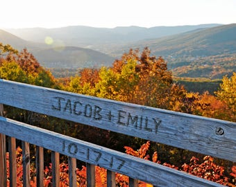 Personalized Wall Art Print, Mountain Artwork, Personalized Gift, Autumn Wedding Gift,  Rustic Decor, Gift for Newlyweds, Custom Art