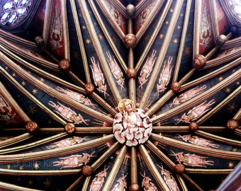 Church Photography - Cathedral Ceiling Fine Art Photograph - Ely Cathedral, England - Architecture Print - 8x10