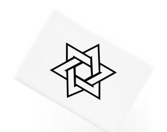 Ceramic Fridge Magnet, Star of David Jewish and Judaism Symbol Hexagram, Funny Fridge Magnets, Refrigerator Magnet, FM143