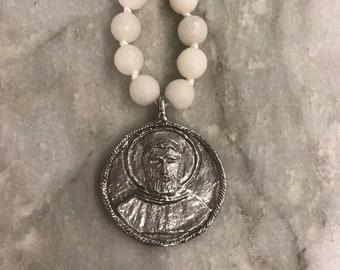 Colorful Saint Peregrine Necklace