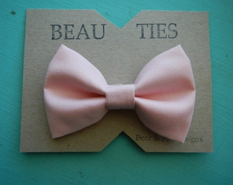 Baby Boy Toddler clip-on bow tie Blush