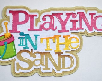 CraftECafe Playing in the Sand, Summer, Beach Paper Piecing, Premade Scrapbook
