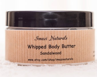 Body Butter, Natural Body Butter, Sandalwood Body Butter, Whipped Body Butter, Shea Body Butter, Vegan Body Butter