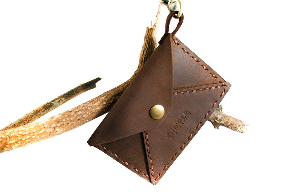 Leather Card Holder Credit Card Keychain Card Case Business