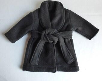 18 inch Doll Robe, Black, 18 inch boy or girl robe