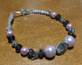 Pink Purple Sea Critters Bracelet