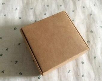 50pcs 6.1*4.7*2.7CM Handmade soap box Kraft paper boxes small boxes of jewelry box candy box