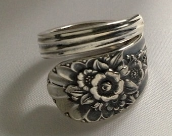 Spoon Ring Jubilee 1953 Vintage Silverplate Choose Your Size