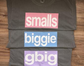 Sorority Big/Little Comfort Color Tshirt in Grey // Biggie & Smalls (one shirt)