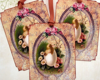 Shabby French Easter Gift Tags
