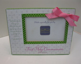 Girls First Holy Communion Frame with Bible verse