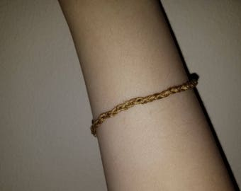 Thin Braided Natural Rope Bracelet