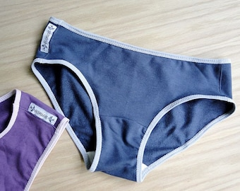SET of two underwear, basic organic cotton panties, any color, made to measure, organic underwear, gift for her
