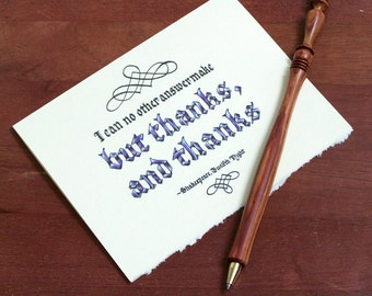 Shakespeare Thank You Card: I can no other answer make but thanks