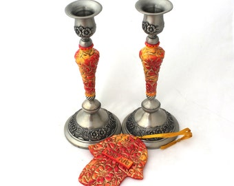 Judaica, Jewish Gift, Candlesticks Holders, Candle Holders Set, Shana Tova, Bat Mitzvah, Israeli Art, Religious Gifts, Decorative Art